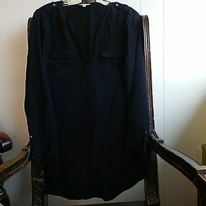 Joie Marlo black long sleeve silk  blouse Size XS